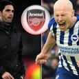 Arsenal fans urge Mikel Arteta to buy Brighton star Aaron Mooy after 'Bergkamp' wondergoal