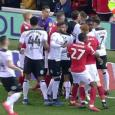 Nottingham Forest and Derby players in HEATED clash as tensions boil over