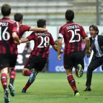 Muntari, Honda strike as Milan end winless run