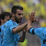 Negredo winner lifts Valencia up to third