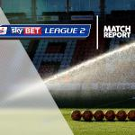 Cheltenham 1-2 Bury: Match Report