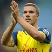 Podolski mocks Spurs rumour