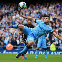 Pellegrini hails four-star Aguero