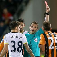 Bruce unhappy about red card decision