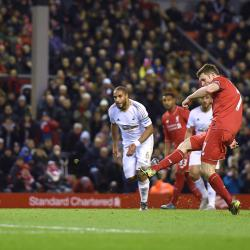James Milner's penalty gives Jurgen Klopp a first league win at Anfield