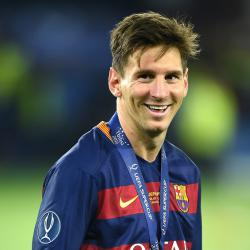Barcelona superstar Lionel Messi beats Ronaldo and Suarez to UEFA award