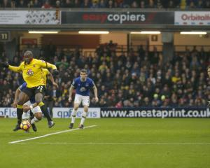 Stefano Okaka brace helps Watford to victory over slumping Everton