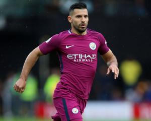 Manchester City striker Sergio Aguero returns to training after car accident