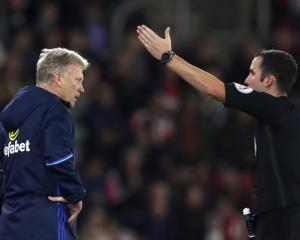 David Moyes gets touchline ban after EFL Cup dismissal in loss at Southampton