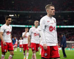 Steven Davis finds Southampton's defeat hard to take