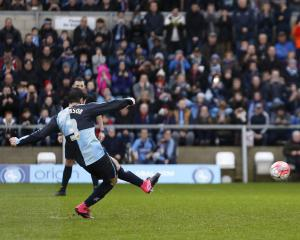 Joe Jacobson on the spot to earn League Two Wycombe a replay with Aston Villa