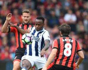 West Brom striker Saido Berahino returns to conditioning camp in France