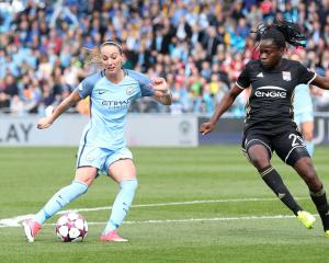Manchester City Women beaten by Lyon in opening leg of Champions League semi
