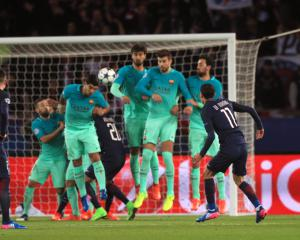 Angel Di Maria double helps Paris St Germain shock Barcelona in Champions League