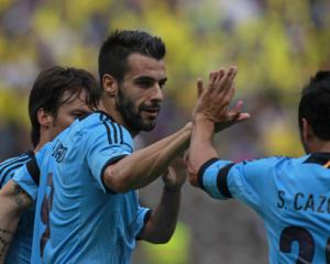 Negredo winner lifts Valencia up to third