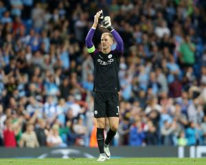 Joe Hart is hailed by fans as Man City make Champions League group stages