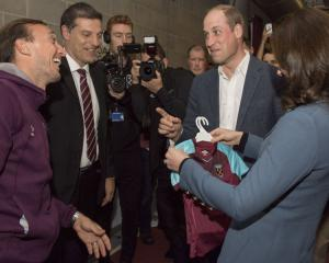 'Right colours, wrong team!' – Villa fan Prince William cracks West Ham joke