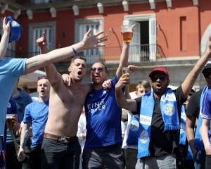 Leicester fans arrested for causing a mess
