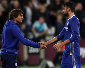 Antonio Conte thanks Diego Costa for Chelsea contribution