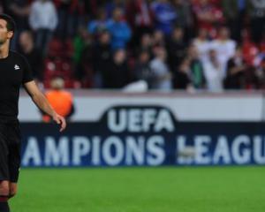 Ballack maintains silence despite Leverkusen goal