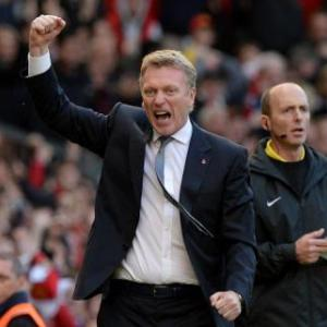 Moyes delighted by battling United