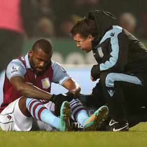 Aston Villa striker Darren Bent sidelined after hamstring injury