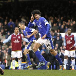 Fellaini inspires Toffees fightback against struggling Villa