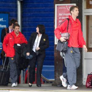 Manchester United board train at Stockport for Champions League final