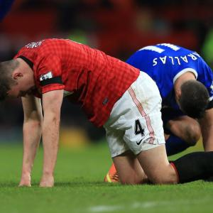 Phil Jones trains for United as they prepare for Madrid