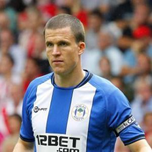 Wigan captain Gary Caldwell out for at least two weeks