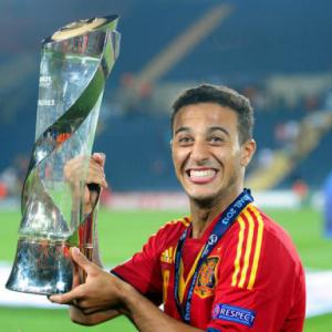 Thiago hat-trick sees Spain retain U-21 title