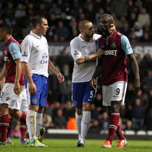 West Ham appeal Cartlon Cole red card