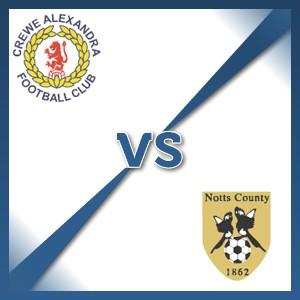 Notts County away at Crewe Alexandra - Follow LIVE text commentary