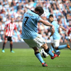 Manchester City midfielder James Milner out of Everton Clash