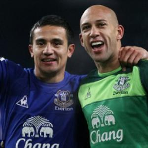 Everton stars Tim Cahill and Tim Howard hail 'massive' victory over Manchester City
