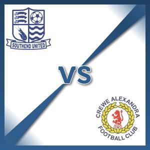 Crewe Alexandra away at Southend United - Follow LIVE text commentary