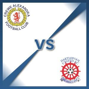 Hartlepool United away at Crewe Alexandra - Follow LIVE text commentary