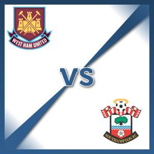 Southampton away at West Ham United - Follow LIVE text commentary
