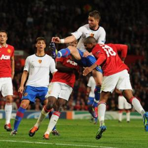 Manchester United 3 Basle 3: Young's late show saves Sir Alex's blushes