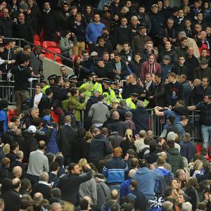 Violent scenes mar semi-final clash