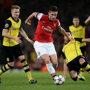 Dortmund edge out Arsenal