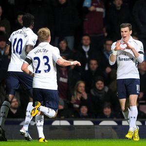Bale bags brace as Spurs move into third
