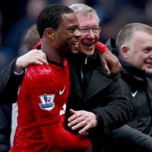 Evra will not follow RVP's example and jump into Fergie's arms