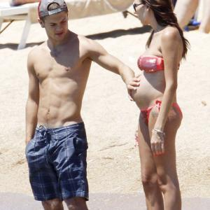 Dad-to-be Jack Wilshere soaks up Sardinian sun with Lauren Neal