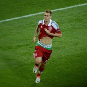 UEFA to look into Bendtner underpants celebration