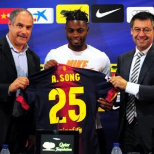 Song happy to join best team Barcelona