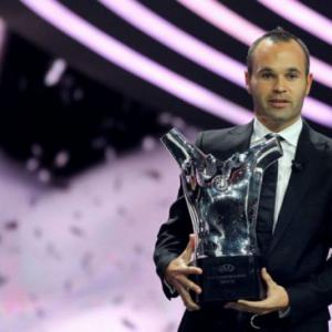 Iniesta crowned European player of season