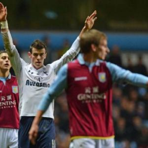 Bale treble sinks sorry Villa, puts Spurs fourth