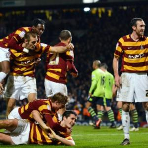 Giant-killers Bradford within sight of Wembley