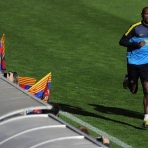 Abidal back in training with Barcelona